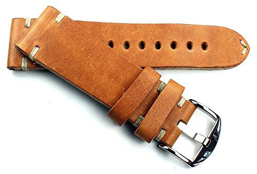 RIOS 1931 Herren Leder Uhrenarmband Vintage 24mm