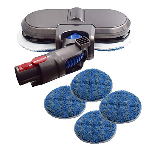 1-Pack Electric Mop Brush Head Compatible with Dyson Cordless Stick Vacuum Cleaner V7,V8,V10,V11.(3 Pairs of Mop Pads)