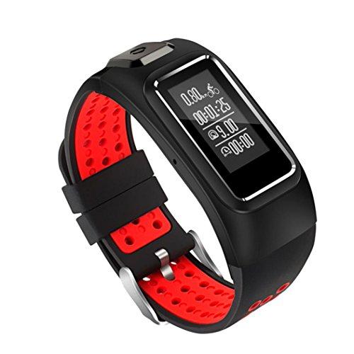 tpulling moda Star 8GPS intelligente Orologio impermeabile Smart Watch orologio da polso smartwatch bluetooth 4.0Fitness Activity Tracker compatibile con IOS e Android smart band Sport orologio, Rot