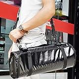 LPing Bartender Kit Tote Bag,Material de PU, Rollo de Kit de Barman Profesional,Juego de cócteles a Prueba de Agua Bolsa de Organizador Enrollable para Viajes