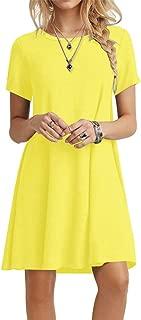 Best yellow tee shirt dress Reviews
