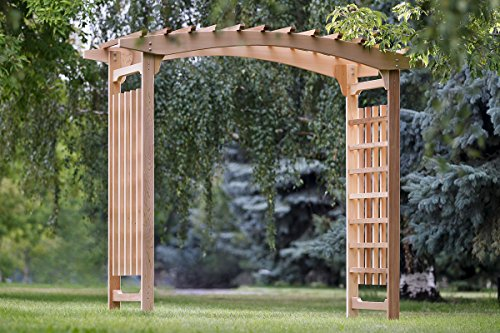 cedar outdoor wedding arch