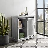 Walker Edison Furniture Modern Farmhouse Buffet Entryway Bar Cabinet Storage, 32 Inch, Grey