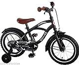 14 Inch bike | Kwaliteitskinderfiets met zijwieltjes | Black Cruiser | Zwart/mat | 41401