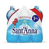 Sant'Anna - Blister d'Acqua Minerale Frizzante - Confezione da 6 Bottiglie di Plastica Ciascuna da 1 litro