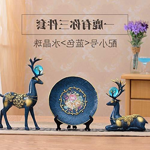 Kreatives Zuhause Swan Elephant Vase TV-Schrank, Trompete Blue Crystal Ball Deer Disk