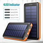 Pxwaxpy Solar Power Bank 26800mAh, Solar Charger 【Type C & Micro USB Input】 High Capacity Portable Charger Fast Charge…