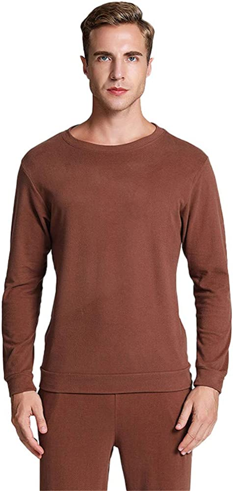 Dizadec Thermal Top for Men, Men's Heavyweight Thermal Underwear Top Fleece Lined Base Layer Long Sleeve Shirt