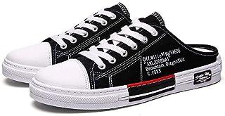 黄贝玲 学生板鞋百搭半拖男鞋帆布鞋夏季新款帆布鞋男韩版潮流中小学生板