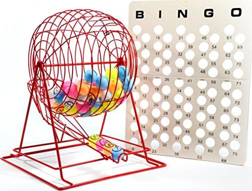 Regal Games Jumbo-Bingo-Käfig mit mehrfarbigen Ping Pong Bingo-Bällen