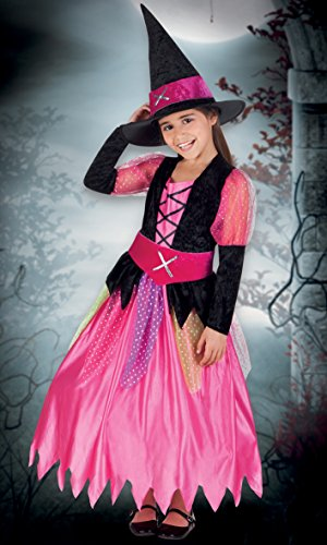 Boland- Costume Bambina Streghetta Pretty Witch, Rosa/Nero, 10-12 anni, 78065