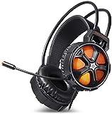 Auriculares de computadora con cable, auriculares, auriculares, auriculares de reducción de ruido, estéreo,Black