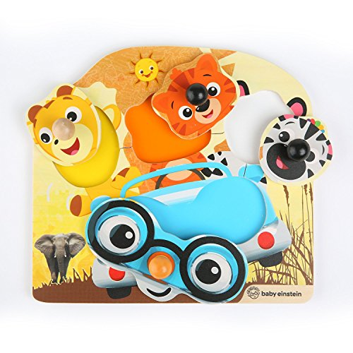 Baby Einstein by Hape- Baby_Einstein Puzle amigos del safari, Color knopfpuzzle (E11654) , color/modelo surtido