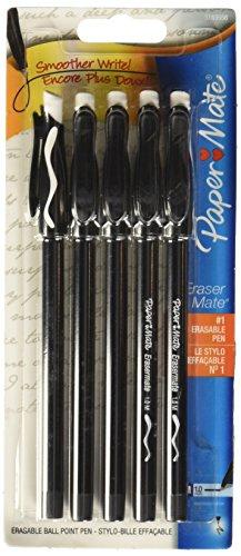 Paper Mate Erasable Ballpoint Pen, 5-Count