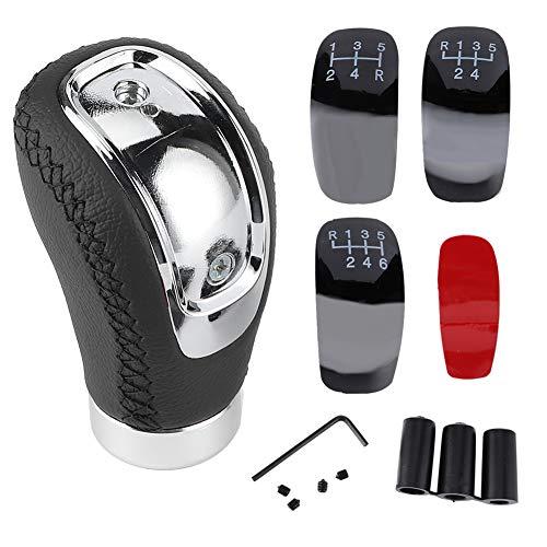 Car Gear Schaltknauf, Universal Car Gear Schaltknauf Stick Head Shifter Hebel Handball Leder Universal für Auto(Schwarz)
