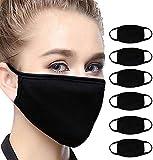Lot de 6 couvertures de bouche, couvre-chef, anti-pollution, anti-smog, anti-poussière, anti-poussière