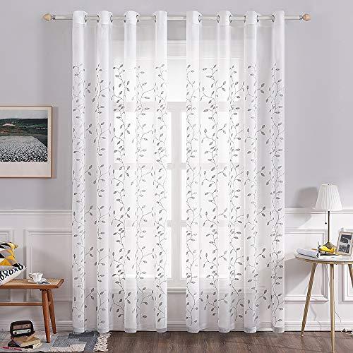 cortinas salon gris rayas