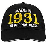 Bombo Hecho en 1931 Todas Las Piezas Originales^ 90 años de cumpleaños Sombrero Negro