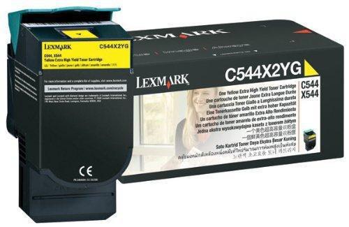 Lexmark Extra High Yield Yellow Return Program Toner Cartridge for US Government, 4000 Yield (C544X4YG)