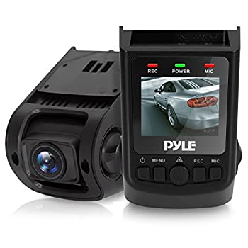 """Pyle Dash Cam Rearview Monitor - DVR 1.5"""" Digital Screen Rear View Camera Video Recording System in Full HD 1080p w/ Built in G-Sensor Parking Monitor & 32gb Memory Card Slot Support"""