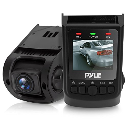 "Pyle Dash Cam Rearview Monitor - DVR 1.5"" Digital Screen Rear View Camera Video Recording System in Full HD 1080p w/ Built in G-Sensor Parking Monitor & 32gb Memory Card Slot Support"