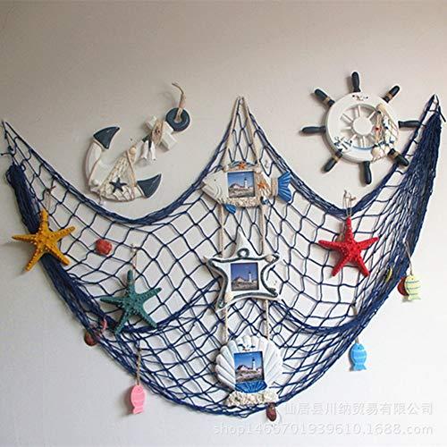 RUICK Adhesivo Decorativo de Pared para Puerta de Playa, Estilo mediterráneo, diseño de Conchas de Pesca, de Goma, Ideal para decoración de la Pared