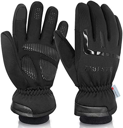FIDESTE 40 Waterproof Winter Thermal Gloves 3M Thinsulate Windproof Touch Screen Warm Gloves product image