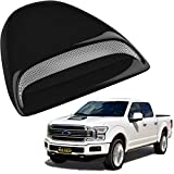 Workhorse FasTrack FT1261 Performance Engine Parts - Mega Racer Black Automotive Hood Scoops for Trucks - JDM Racing Style Front Decorative Air Vents with Aero Dynamic Air Flow Exterior Intake Cover 3M Tape Adhesive, Universal Fit Car Wash Safe