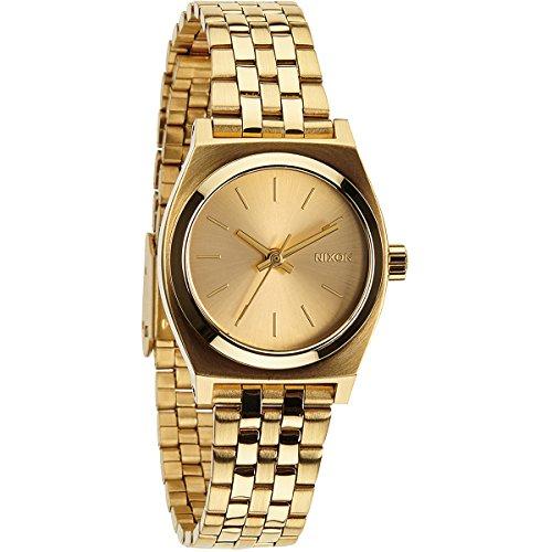 Nixon Damen-Armbanduhr XS Small Time Teller Analog Quarz Edelstahl A399502-00