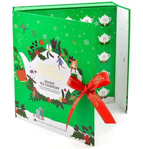 English Tea Shop Calendario Avvento Verde Tè del Natale | Cofanetto Calendario Avvento Apribile | Collezione di Tè e...