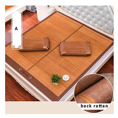 ZXL matrasbeschermer, verkoelend, matras van bamboe, zomer, slaapbed, koelmatras, glad, geklimatiseerd, opvouwbaar, dubbelzijdig bruikbaar, 3 stijlen (kleur: A, maat: