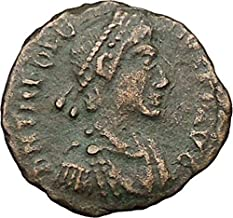 1000 IT THEODOSIUS I the Great Ancient Roman Coin Milita coin Good