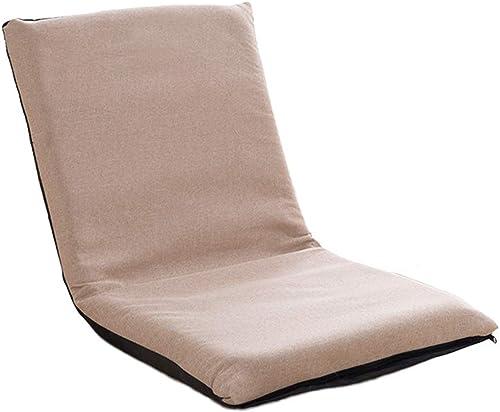 Sitzs e Praktischer Multiangle Floor Chair, Gepolstert Für Kinder Erwachsene, Easy Smart Chair Für Meditation, Lesen, Fernsehen Oder Spielen (Farbe   Leinen Farbe, Größe   S-78×35×5cm)