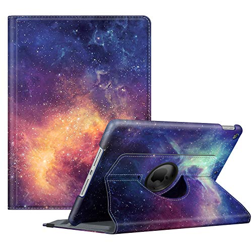 Fintie Rotating Case for New iPad 7th Generation 10.2 Inch 2019 - [Built-in Pencil Holder] 360 Degree Rotating Smart Protective Stand Cover with Auto Sleep/Wake for iPad 10.2' Tablet, Galaxy