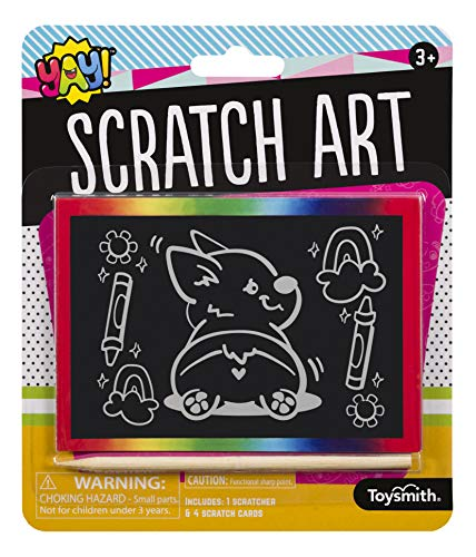 Toysmith Scratch Art, Reveal The Four Different Designs