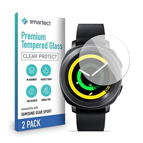 smartect Cristal Templado para Móvil Samsung Gear Sport [2 Unidades] - Protector de pantalla 9H - Diseño ultrafino - Instalación sin burbujas - Anti-huella