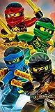 BERONAGE Lego Ninjago Badetuch Motiv Team 70 cm x 140 cm