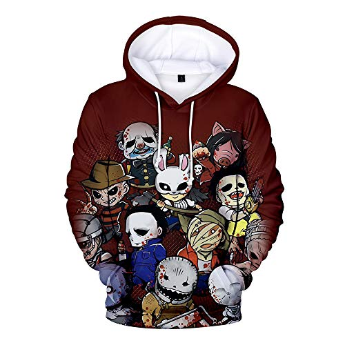 MOHKJMML Dead by Daylight Sweatshirt Sweatshirt for Adultes Sweatshirt À La Mode Graffiti À Capuche Pull Multi-Taille Dead by Daylight Pullover (Color : A15, Size : XL)
