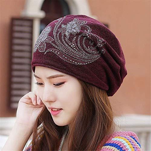 MZHAOANHE Sombreros de Mujer otoño e Invierno Engrosado Big Pier Toalla Sombrero...