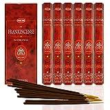 Frankincense - Box of Six 20 Sticks Tubes, 120 Sticks Total - HEM Incense From India