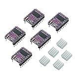 DEVMO 5pcs DRV8825 Stepper Motor Driver Module with Mini Heat Sink for 3D Printer Accessories RepRap 4 RAMPS 1.4 StepStick