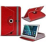 i-Tronixs (rot) NVIDIA Shield K1[20,3cm] Fall [Standfunktion] für NVIDIA Shield K1[20,3cm] Tablet PC Hülle Cover Tablet Stabiler Synthetisches PU-Leder 360° Drehbar Fall mit 4Federn