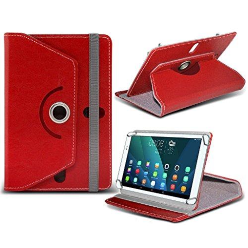 (Rot) Acer Iconia One 7 (B1-730) [7 Zoll] Tasche Fall hŸlle [Standplatz -hŸlle] fŸr Acer Iconia One 7 (B1-730) [7 Zoll] Tablet PC Kasten-Abdeckung [Standplatz -hŸlle] strapazierfŠhigem Synthetik PU-Leder-360 Roatating Abdeckung Tasche Fall hŸlle [Standplatz -hŸlle] mit 4 Federn von i- Tronixs