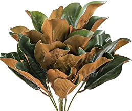 Factory Direct Craft Hues of Green Artificial Magnolia Leaf Bush for Indoor Decor