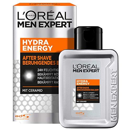 L\'Oréal Paris Men Expert After Shave Balsam und Gesichtspflege für Männer, Gegen Rasurbrand, Rötungen und Irritationen, Hydra Energy, 1 x 100 ml