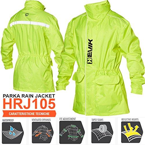 HRJ105YM regenjas model PARKA RAIN FLUO HEVIK maat M