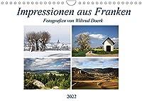 Impressionen aus Franken (Wandkalender 2022 DIN A4 quer): Ein Streifzug vom Fichtelgebirge ueber die Fraenkische Schweiz bis in die Rhoen. (Monatskalender, 14 Seiten )