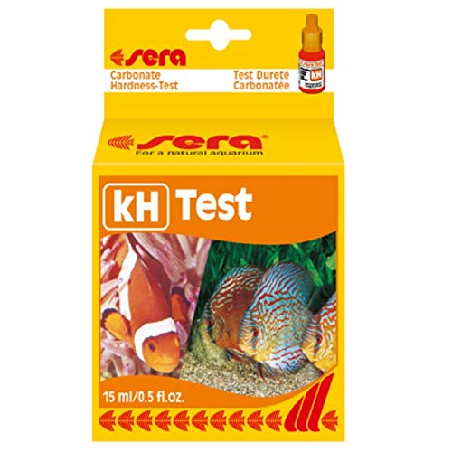 sera 04210 Karbonathärte Test (KH), misst zuverlässig und genau die Karbonathärte, für Süß- & Meerwasser, im Aquarium oder Teich