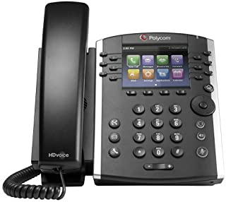 Polycom VVX 401 Corded Business Media Phone System - 12 Line PoE - 2200-48400-001 - AC Adapter (Included) - Replaces VVX 400 (Renewed)