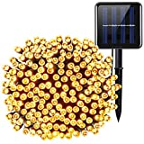 Criacr Solar Lights Outdoor, (200 LED 8 Modes) Solar String LIghts, 72ft/22m Solar Garden Lights, Waterproof Christmas Fairy Lights for Tree, Patio, Home, Yard, Pathway, Party, Wedding (Warm White)